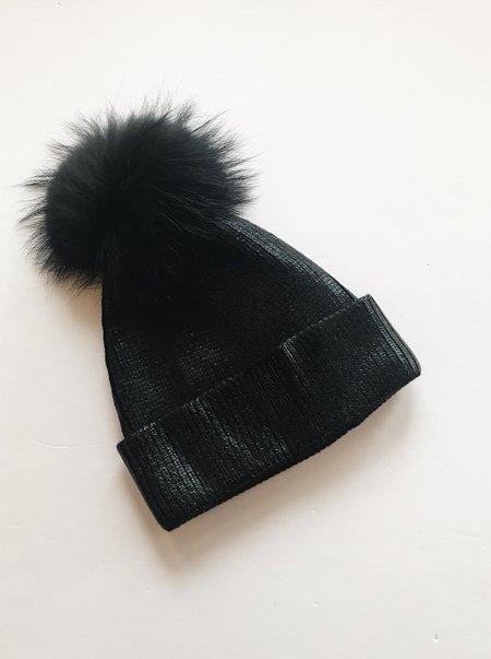 Equation Ali Pom Hat - Black Foil