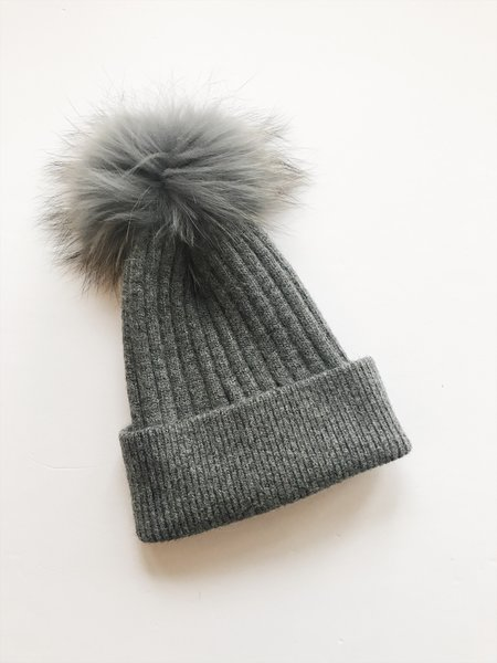 Equation Elliott Hat with pom - dark gray