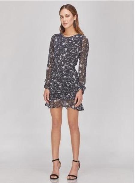Greylin Cora Floral Ruched Dress