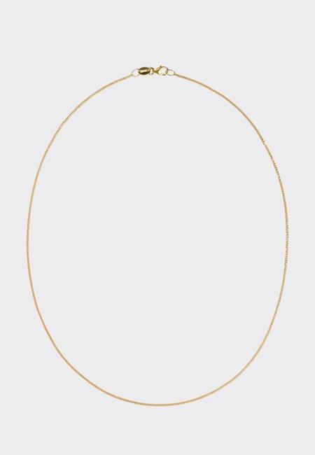 Meadowlark Diamond Curb Chain Necklace - Gold