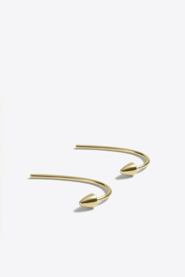 Kathleen Whitaker Spike and Loop Earring in Yellow Gold