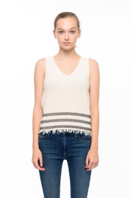John + Jenn Milos Sweater Tank - White