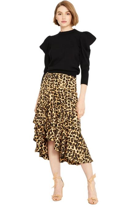 Misa Los Angeles Mireya Skirt - Leopard Print