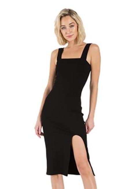 n: Philanthropy Key Sleeveless Midi Dress - Black Cat