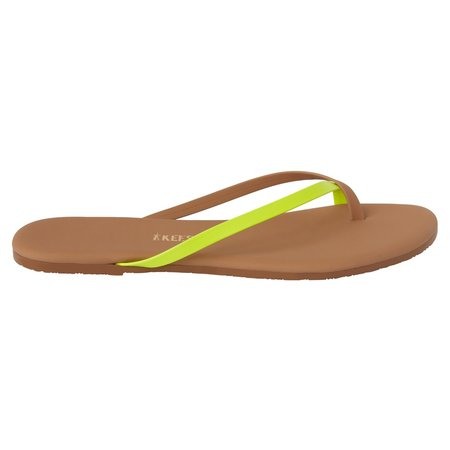 TKEES Riley Flip Flops  - Neon Yellow