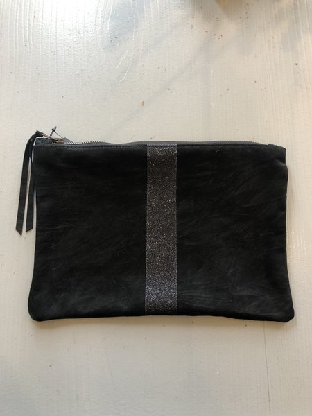 Totem Pouch with Sparkle - Black
