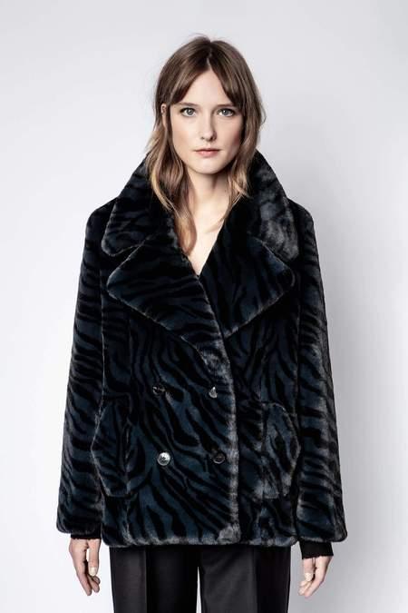 Zadig & Voltaire Miller Tigre Coat - Black
