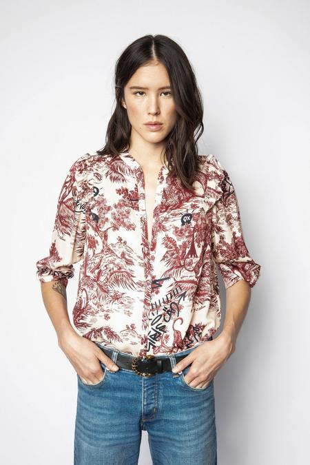Zadig & Voltaire Tygg Jouy Toile Satin Blouse