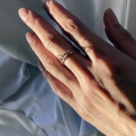 Metalepsis Projects Float Ring - Sterling silver