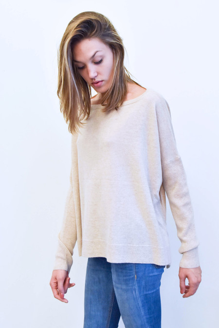 Creatures Of Comfort Boxy Cashmere Sweater in Oatmeal