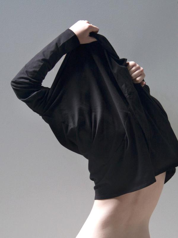 Kowtow Drape Back Top Black