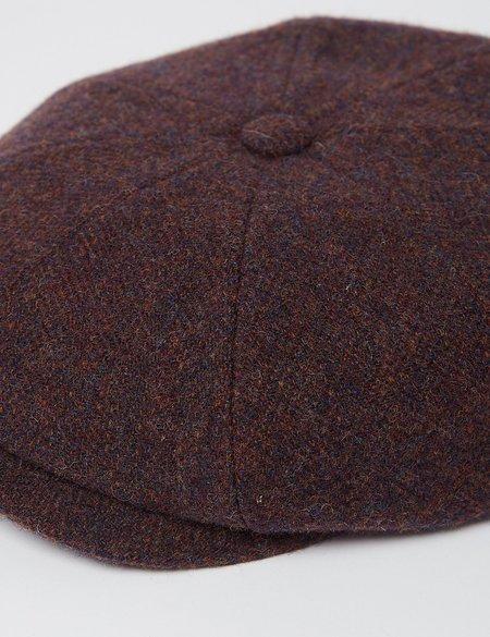 Stetson Hats Wool Herringbone Flat Cap - Blue/Red/Brown