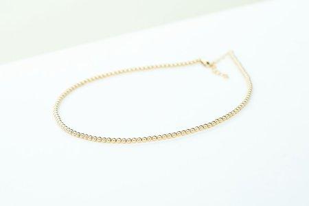 Karen Lazar 3mm Yellow Gold Filled Necklace