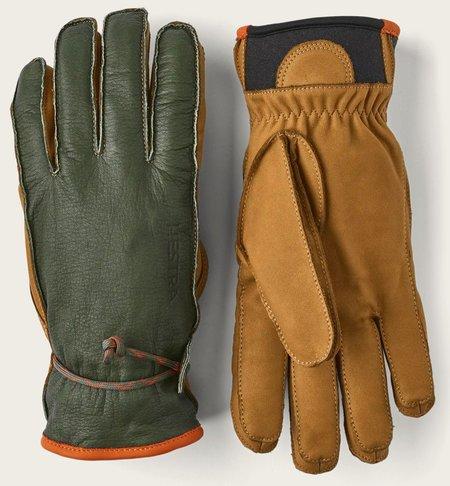 Unisex Hestra Wakayama Gloves - Forest/Cork