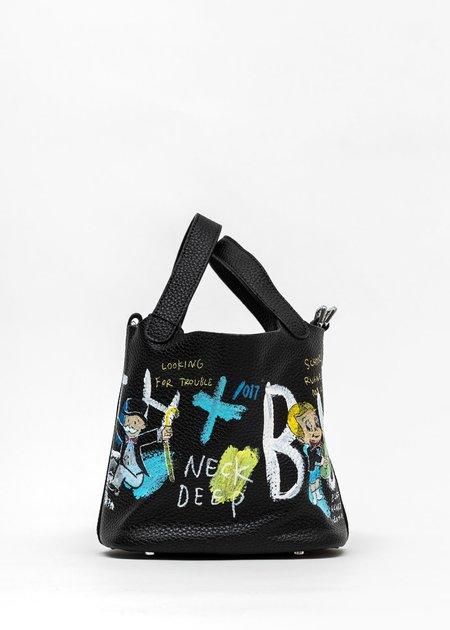 Guernika Black Paint Small Cube Bag - Monopoly/Richie Rich