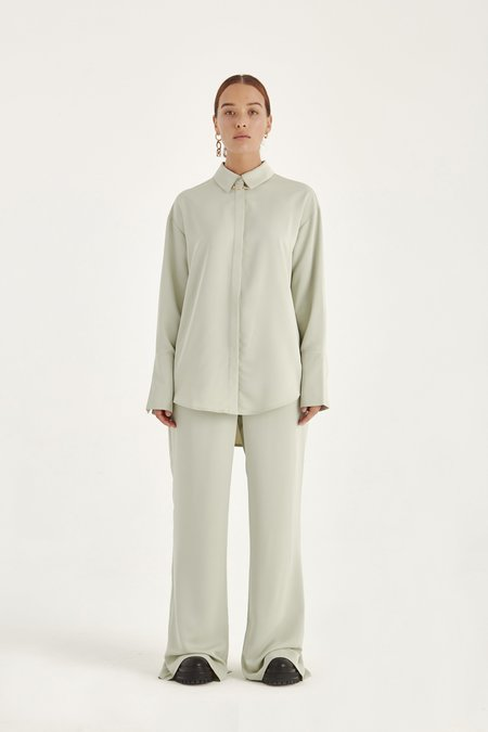 Harris Tapper Soft Slacks Trouser - Sage