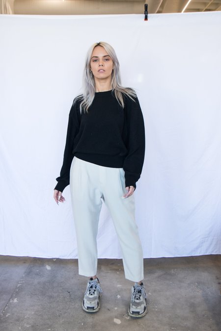 LouLou Studio Basic Cashmere Sweater - Black