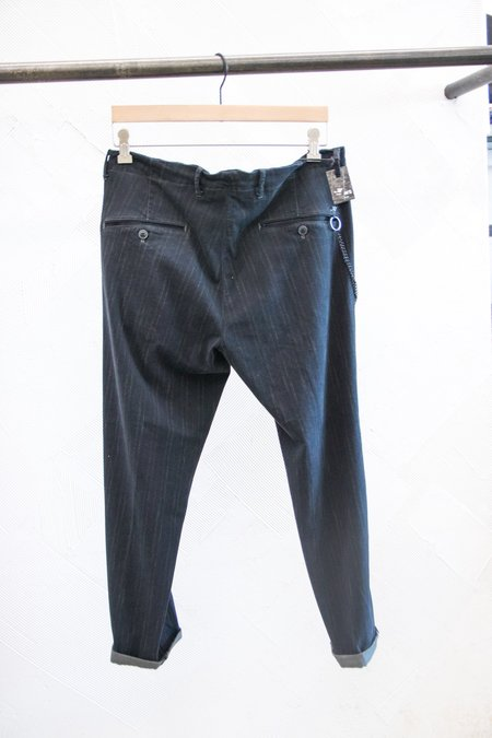 Masons Striped Brushed Cotton Slim Fit Trousers with chain