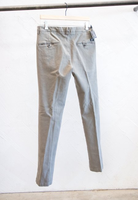 Masons Super Soft Brushed Cotton Slim fit Chino - Light Blue/Grey