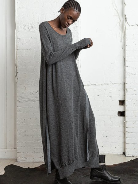 Nicholas K Wrap Sweater Dress - Dark Grey Heather