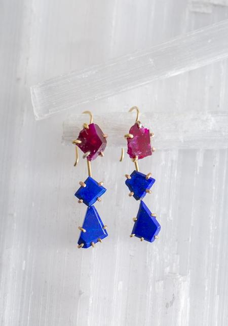 Variance Objects Drops - 14KT Gold/Lapis