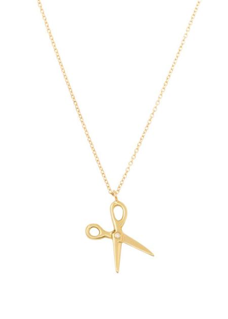 Futaba Hayashi Scissor necklace - white diamond