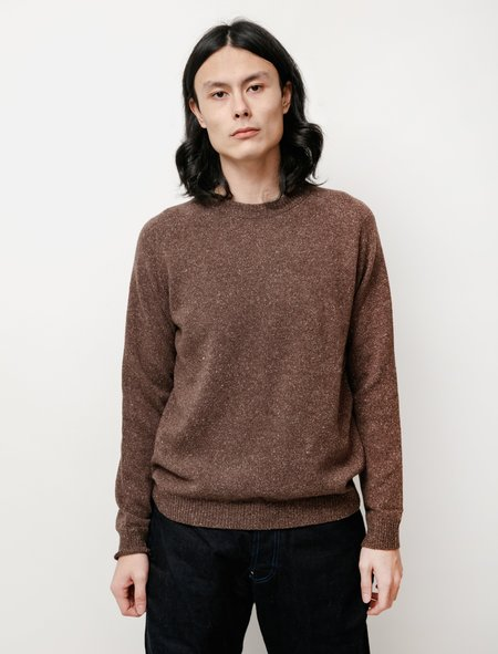 Niuhans Lambswool Silk Crewneck Sweater - Brown
