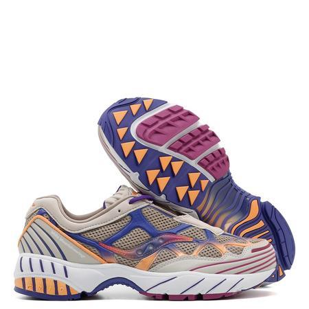 Saucony x White Mountaineering Grid Web Sneakers - Orange/Purple