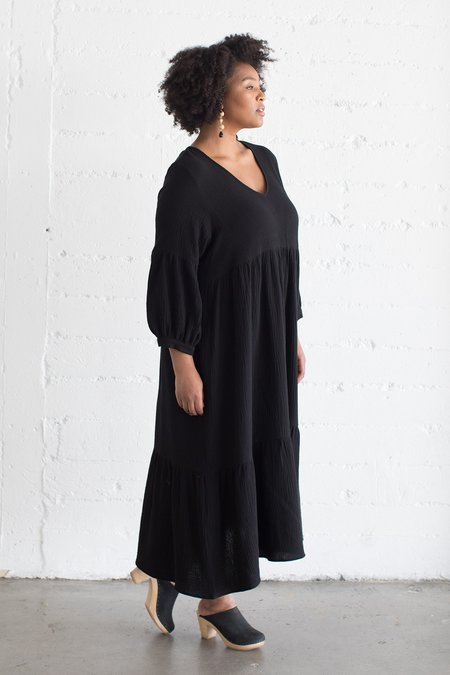 Rachel Pally White Label Gauze Cecelia Dress - Black