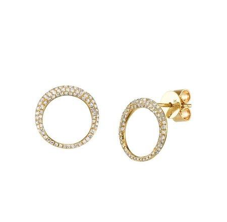 Gabriela Artigas Small Balloon Earrings with White Pavé Diamonds