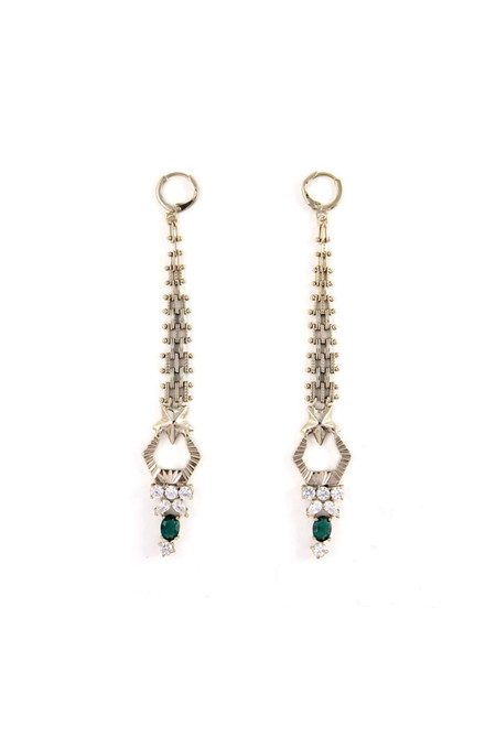 Iosselliani Anubian Jewels Mesh Earrings
