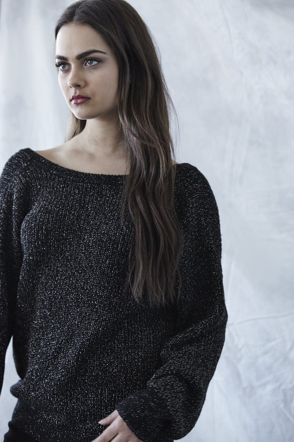 Callahan Sparkle V Back Sweater