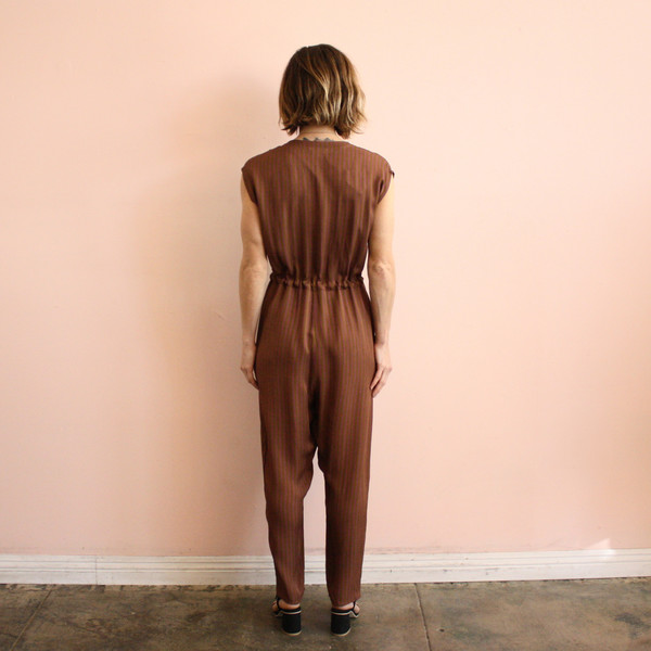 Ali Golden button-down jumpsuit