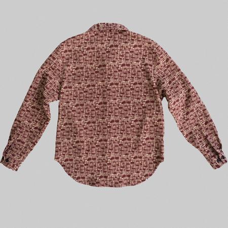 Reborn Garments Tweed Overshirt - Red