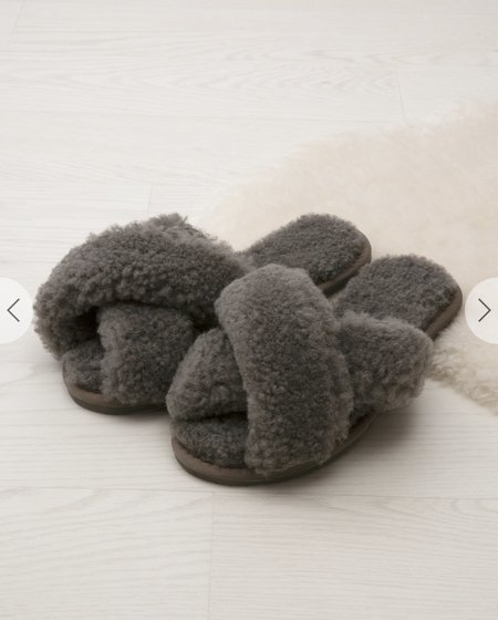 Celtic and Co. Shearling Crossover Slippers