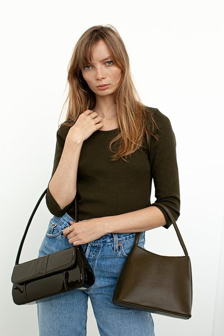 BRIE LEON Camille Handbag - Forest Green Patent