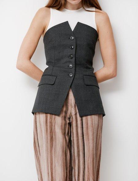 Our Legacy Wool Blazer Top - Charcoal Melange