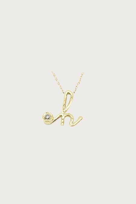 Xiao Wang Dot Dot Letter H Necklace - 14 KY Gold