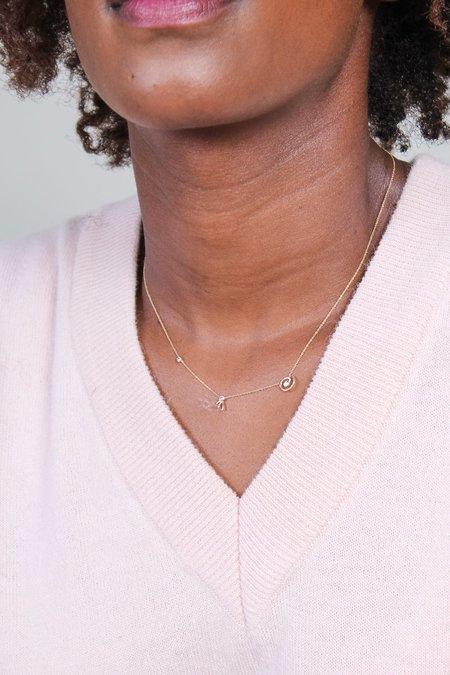 Xiao Wang Dot Dot Necklace with Three Diamonds - Gold