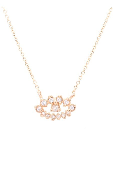 Valley Rose Eos Eye Necklace - White Sapphire