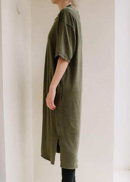 Back Beat Co Hemp Patch Dress - Army