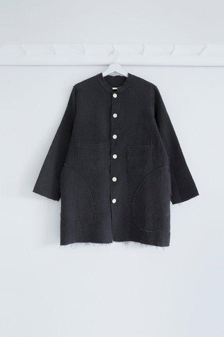 Karu Kantha Stitch Rindle Jacket - Pitch