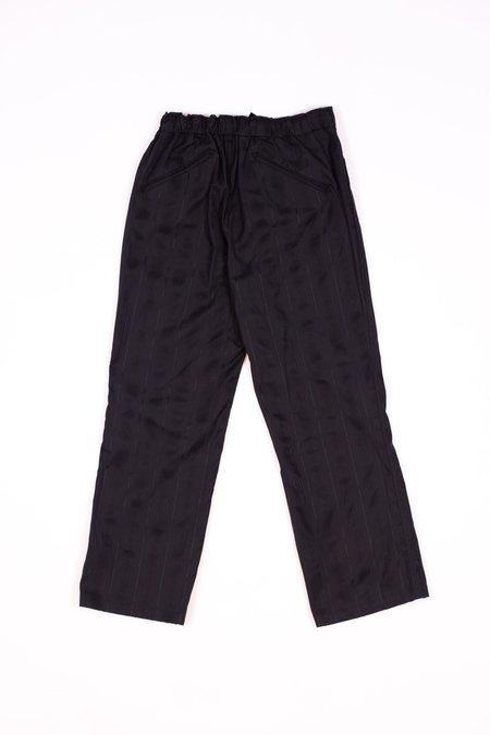Needles String Arrow Cotton Easy Pant - Leno Black Sulfur