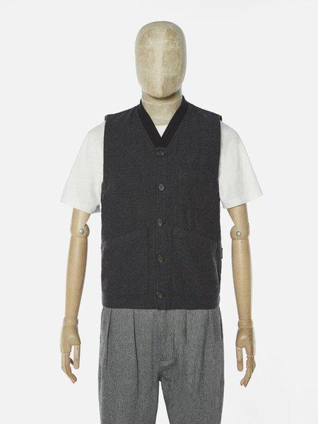Universal Works Brixton Waistcoat - Charcoal Wool