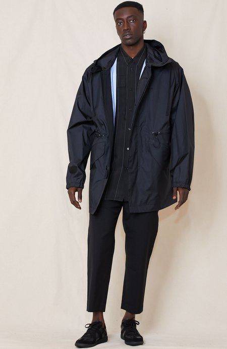 OAMC Tyee Windbreaker with Contrast Patch Placket Jacket