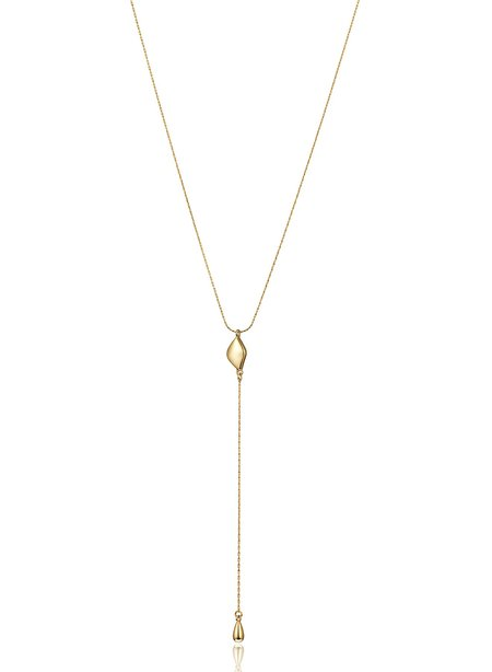 Jenny Bird Constance Lariat Necklace - High Polish Gold