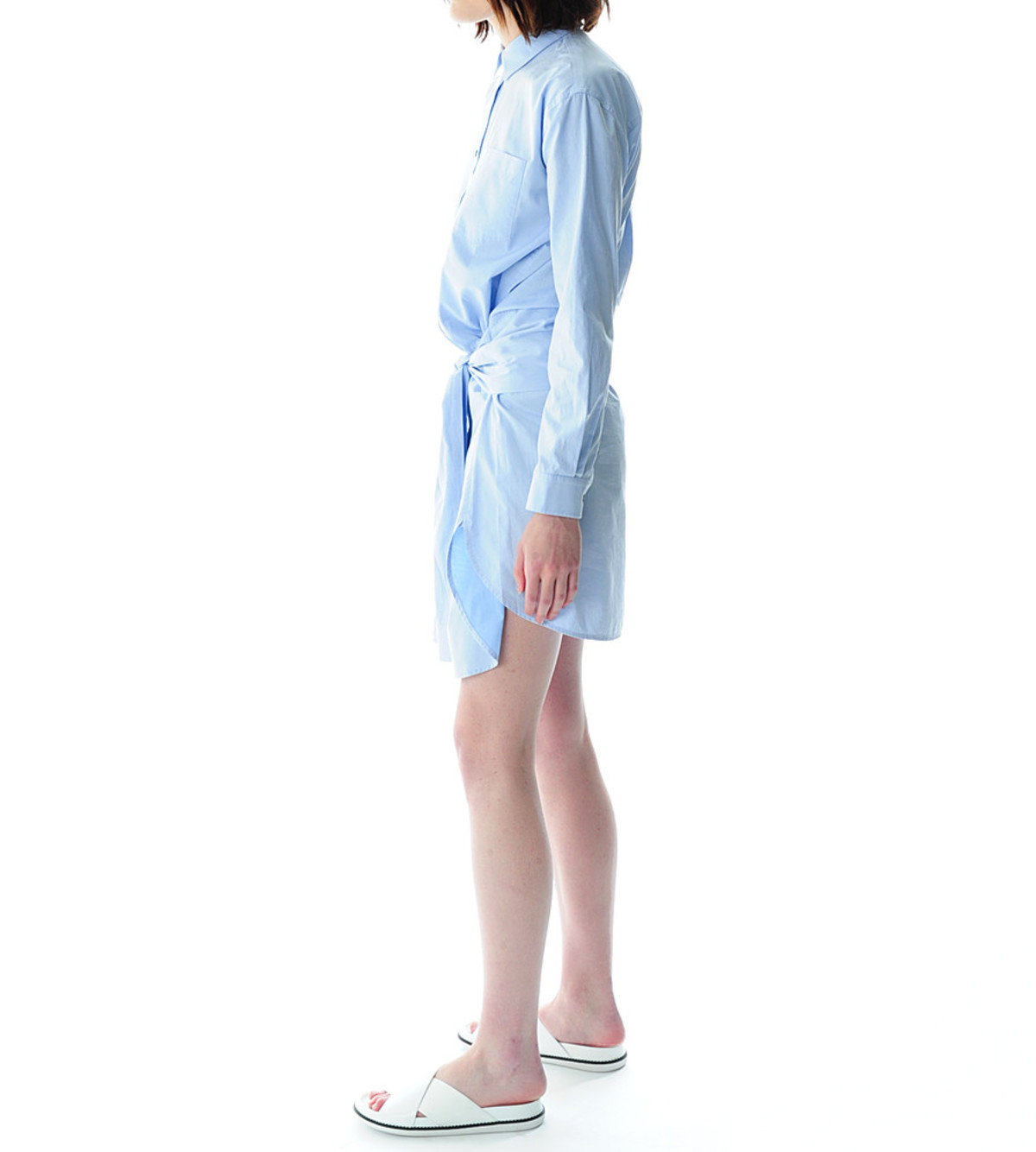 T By Alexander Wang Blue Cotton Poplin Shirt Dress Garmentory