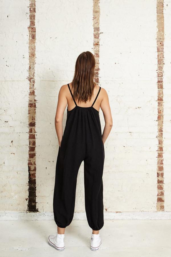 OffSeasonNYC Apolune Lounger Silk Slub Noile Black