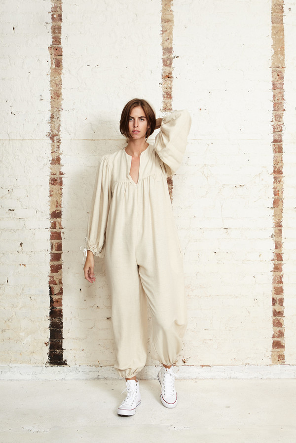 Off Season NYC Saros Jumpsuit Ecru