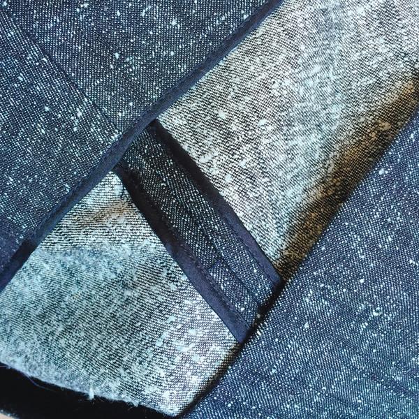 UNIFORME Caro Cropped Palazzo Pants - Silk Cotton Denim